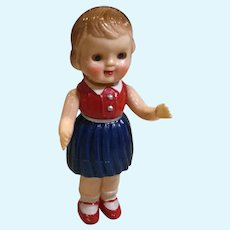 1950s Hard Plastic Dolly for Your Doll