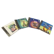 4 Miniature Golden Book Classics for Your DOll
