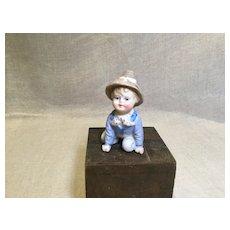 Perky Little Boy Bisque Figure