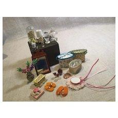 Vintage Mr.&Mrs. Dollhouse Boudoir Accessories