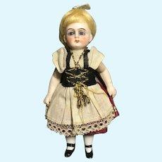 """Dear 5"""" Regionally Dressed German All Bisque Doll"""