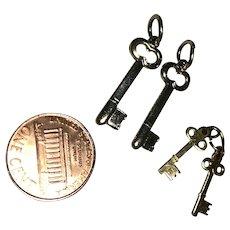 Miniature Vintage Keys