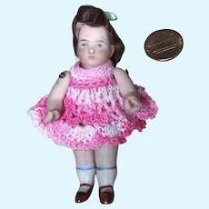 Dear Miss Little Chubby All Bisque Doll House Doll