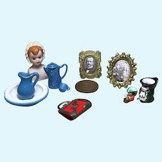 Assortment of Vintage Dollhouse Miniatures