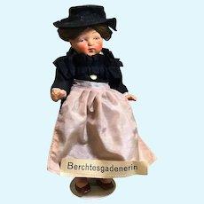 """6"""" Painted Bisque German in Regional Dress"""