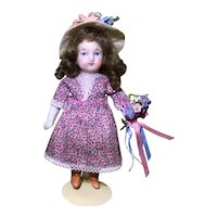 "5-1/2"" German All Bisque Doll"