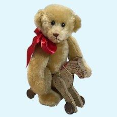 "Wonderful 12"" M. Knapp Artist Bear & Hobby Horse"