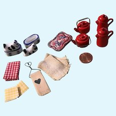 Vintage Dollhouse Kitchen Accessory Assortment