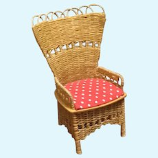 1982 Artist Done Doll House Wicker Chair