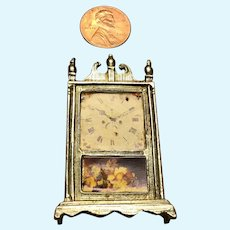 Vintage Doll House Shelf Clock in Lead Free Pewter