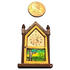 Vintage Steeple Top Doll House Clock