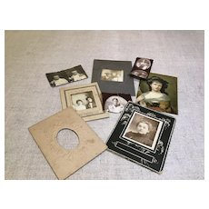 Assortment of c.1900 Wee Photos and One Print for Doll House Rooms