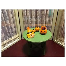 1920s Round Green Doll House Table