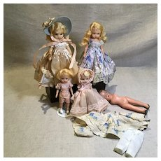 5 NASB Hard Plastic Dolls Assortment