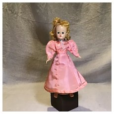 Vintage Pink Taffeta 2 Piece Doll Dress