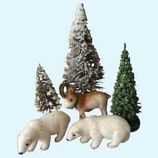 3 Vintage Miniature Kunstlerschutz Animals