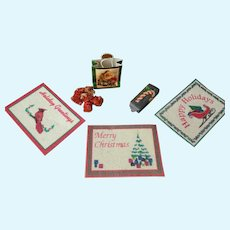 Vintage Doll House Christmas Accessories