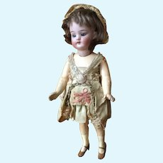 "German 7-1/2"" Flapper Doll, Orig. Dress & Wig"
