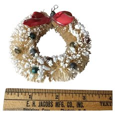 Mid Century Bottle Brush Miniature Wreath