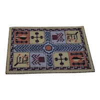 Nice Small Sampler Petit Point Doll House Rug