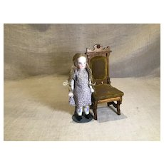 Late 19c. All Bisque Doll w/Glazed Hose & Shoes