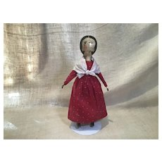 Vintage Artist Edna Young Shadow Dancer Wooden Doll