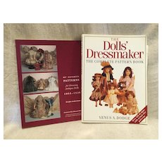 3 Vintage Doll CLothes Pattern Books