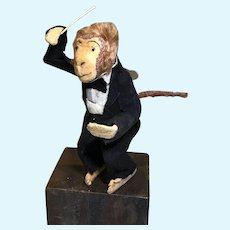 Vintage Monkey Musical Conductor Wind Up