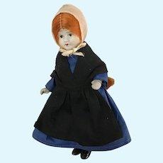 "5-1/2"" All Bisque Amish/Mennonite Doll"