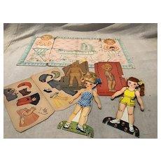 Mid Century Paper Doll Assortment