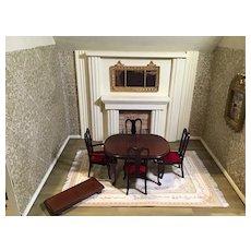 Most graceful Vintage Doll House Dining Set w/Leaf