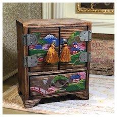 Vintage Japanese Miniature Bureau