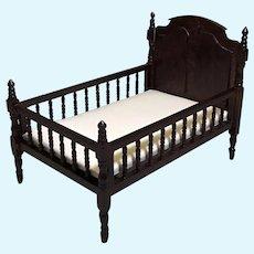 Vintage Doll House Toddler Spindle Bed