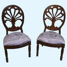 Pair of Vintage Doll House Side Chairs
