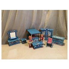 Vintage Dora Kuhn Doll House Bedroom Set