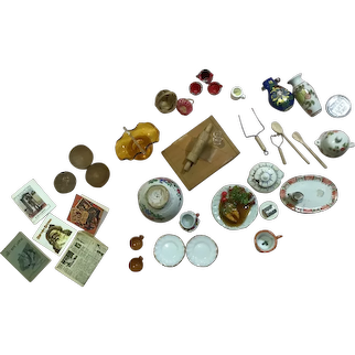 Lg. Assortment of Vintage Doll House Accessories