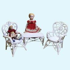 Real Wicker/Rattan DollHouse Porch Set