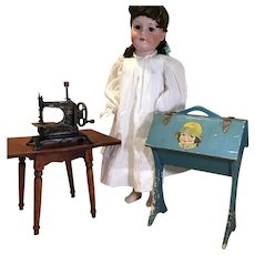 German Sewing Machine, Sewing Stand and Table For Your Doll
