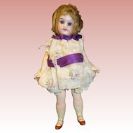 "7"" Antique Bisque Doll Sleep Eyes"