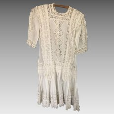 """Antique lace Dress 40"""""""