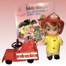 Mattel Liddle Kiddle Bunson Burnie set
