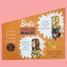 Rare vintage Barbie Color Magic Booklet