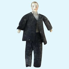 "Antique dollhouse man doll 4.25"""