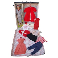 Fashion Queen Barbie Doll with 6 Outfits and Case 1960's