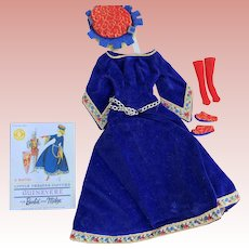Vintage Barbie Guinevere Little Thearer Costume 1960's