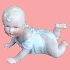 "Heubach Antique Bisque Piano Baby 6"""