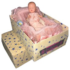 Fabulous Hollywood Baby in Cradle Mint In Box 1950's