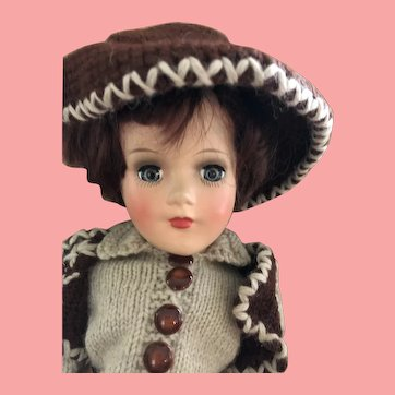 Mary Hoyer boy doll cowboy 1950's hard plastic