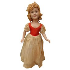 "Vintage Composition Ideal Miss Liberty Doll All Original 21"" Deanna Durbin"