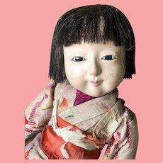 "Interesting Early Japanese Doll 9"" damaged"